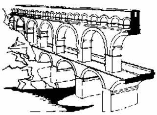 Римские акведуки схема