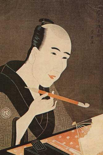Японская гравюра Хиросигэ Утагава,