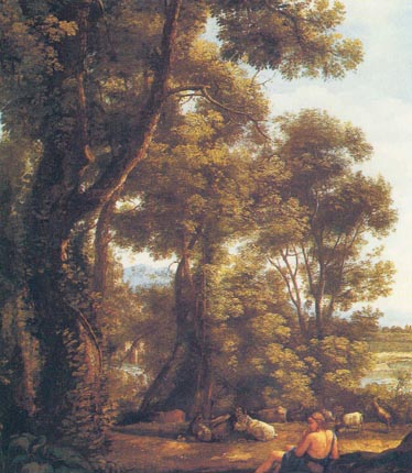 Лоррен пейзаж с козопасом и козами