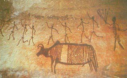 Первобытное искусство бхимбетка