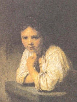 Рембрандт девочка у окна