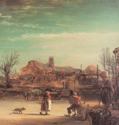Рембрандт зимний пейзаж