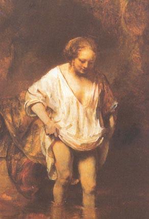 Рембрандт купающаяся женщина