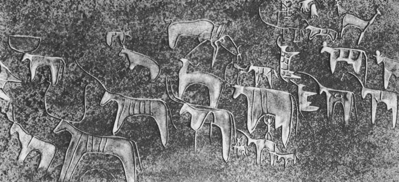 32 Стилизованные фигуры быков