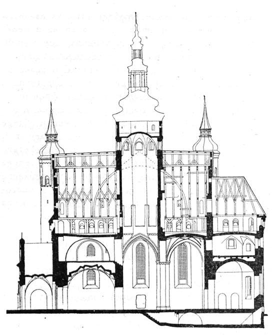 Церковь в Супрасле. Продольный