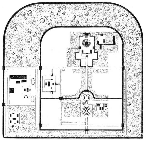 Храм неба в Пекине. План.