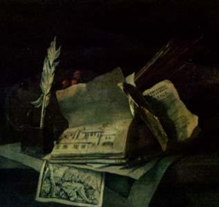 ЖАН БАТИСТ УДРИ. Стол в мастерской.1710-1713