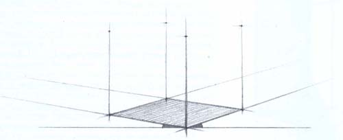 Перспективное построение куба