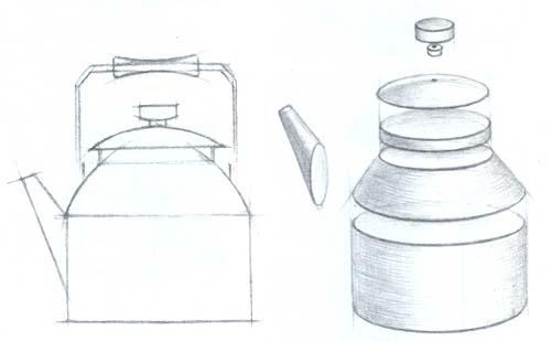 Рисование чайника
