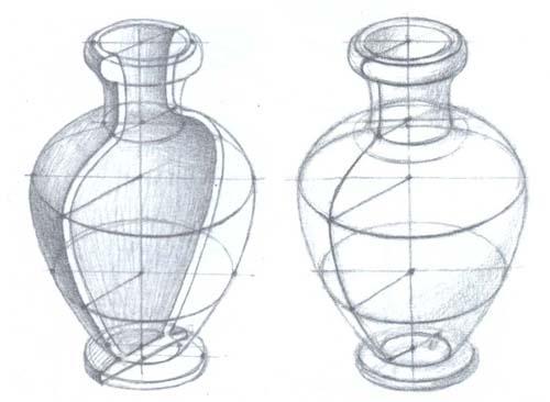 Рисование гипсовой вазы