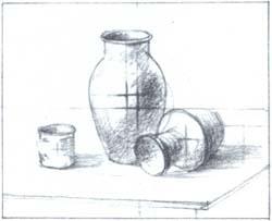 Совмещение композиционного центра (главный предмет) со зрительным