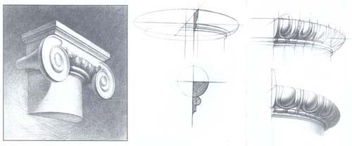 Рисование ионической капителиа