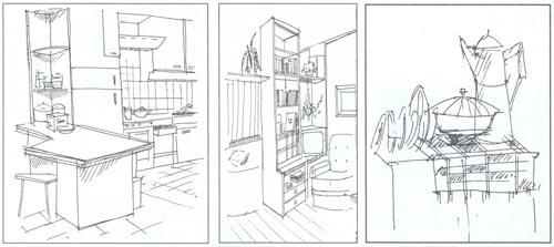 Рисование интерьера