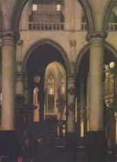 Эмманюэль де Витте. Внутренний вид церкви. Масло.