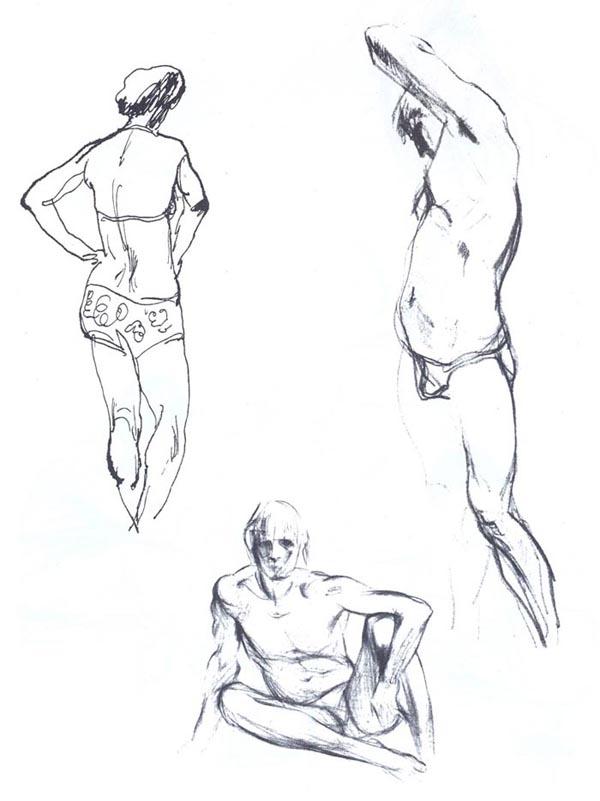 Наброски и зарисовки фигуры человека