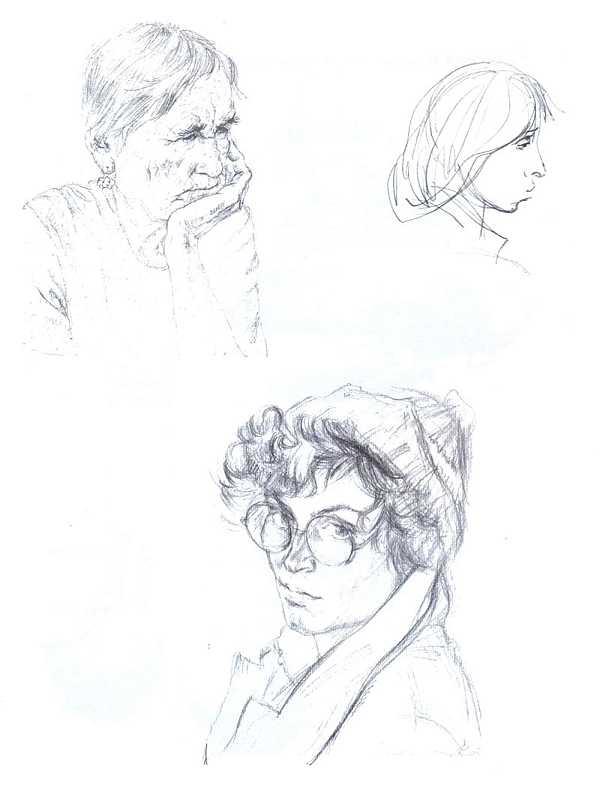 Наброски и зарисовки головы человека: www.artprojekt.ru/school/sketches/02_03.htm